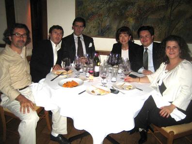 Frank, Nicola Marzovilla, Gianfranco, Alessandra (Fabrizio's wife), Fabrizio, Domenica Marzovilla.